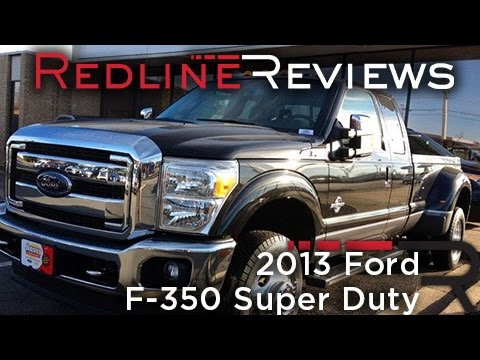 2013 ford f-350 super duty review, walkaround, exhaust, test drive