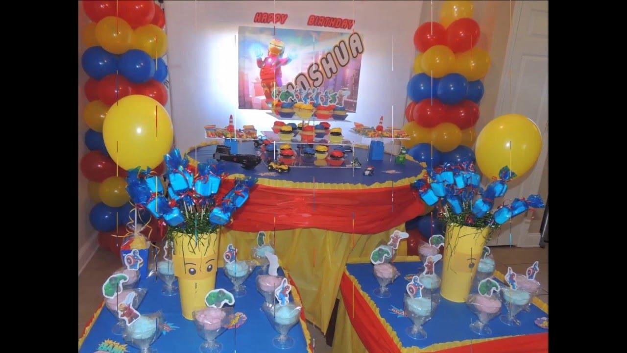 Decoracion de fiesta infantil tematica lego hada madrina - Adornos de fiestas ...