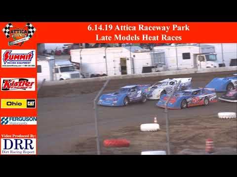 6.14.19 Attica Raceway Park Late Models Heat Races