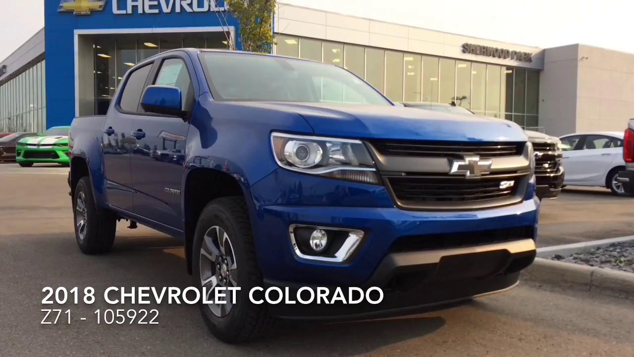 Sherwood Park Chev >> 2018 Chevrolet Colorado Z71 #105922 - YouTube