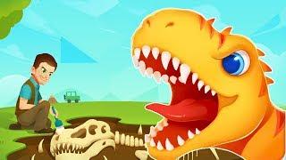 Динозавры Раскопки  Юрского Периода.Приключения Начинаются.Мультик Игра про Динозавров для Детей