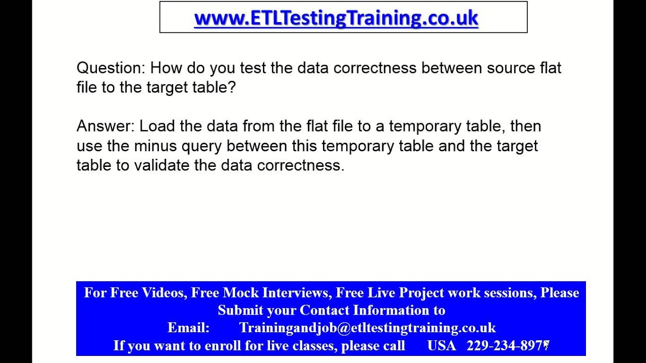 etl testing interview questions and answers part 2 etl testing etl testing interview questions and answers part 2 etl testing training online