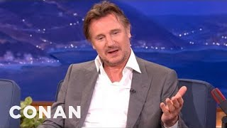 "Liam Neeson On The Timeless Strategy Of ""Battleship"" - CONAN on TBS"
