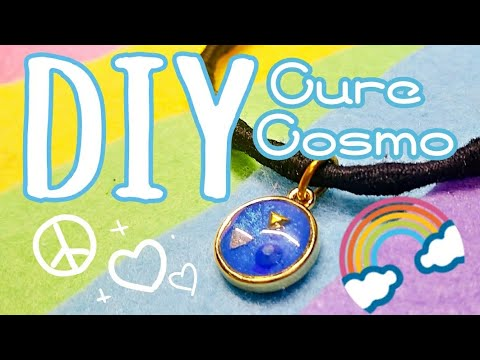 [Resin Art] Cure Cosmo Rainbow Splash! 🌈 Star Twinkle Precure DIY Hair Tie Charm   Watch me Resin
