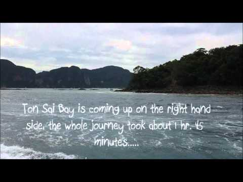 Travelling by Ferry from Krabi Port to Ton Sai Bay, Koh Phi Phi Don, Thailand.