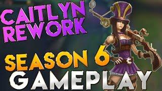 Caitlyn Rework Season 6 Gameplay Bot ADC - League of legends Season 6