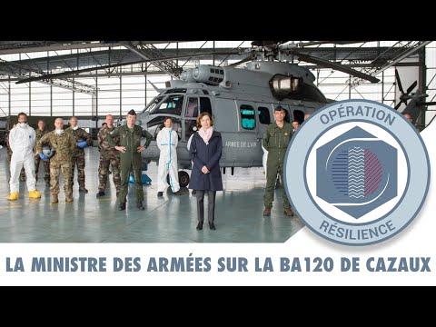 RÉSILIENCE : La ministre des Armées rencontre les Aviateurs de la BA120 de Cazaux