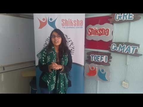 Shiksha Coaching Classes Ahmedabad for GRE, GMAT, IELTS, TOEFL & SAT - Testimonial