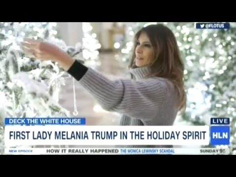 First Lady Melania Trump Changes White House Into A Winter Wonderland!