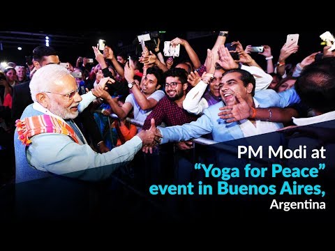 "PM Modi at ""Yoga for Peace"" event in Buenos Aires, Argentina"