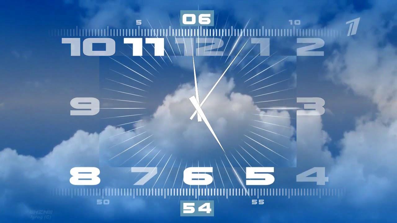 Тема компьютера часы первого канала