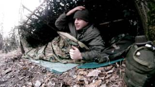 bushcraft-shelter,fire,staying overnight -3°Celsius....