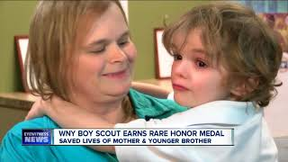 Boy Scout honored for his heroic actions