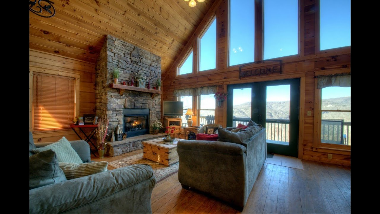 Eagle 39 s nest cabin rental near asheville nc youtube for Eagles ridge log cabin