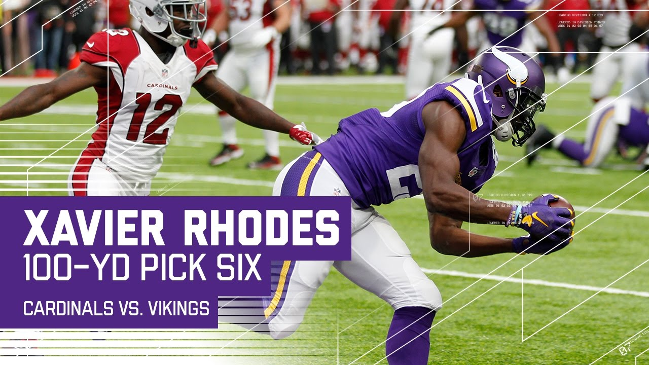 Xavier Rhodes 100 Yard Pick Six is a Vikings Record