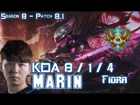 MaRin FIORA vs MAOKAI Top - Patch 8.1 KR Ranked