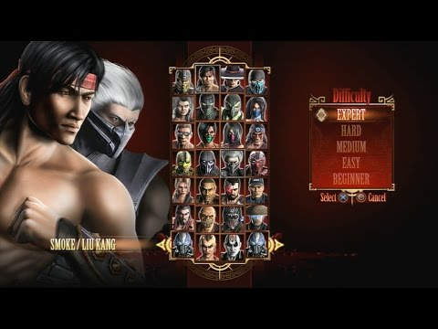 Mortal Kombat 9 - Expert Tag Ladder (Smoke & Liu Kang/3 Rounds/No Losses)