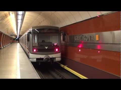 Metro Praha / Prague at station Křižíkova Linka B HD