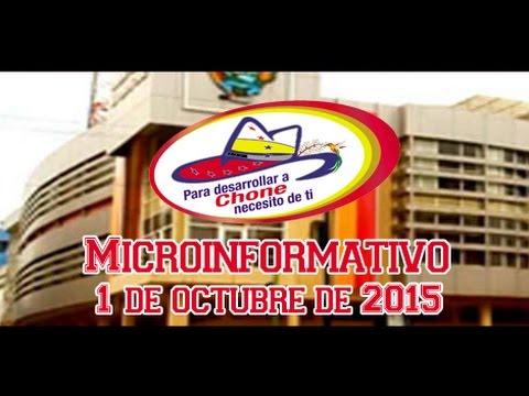 Microinformativo 1 octubre 2015