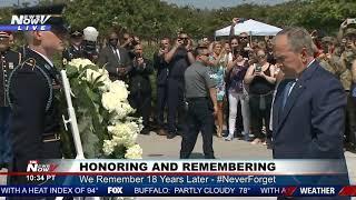 TRIBUTE: George W. Bush Lays Wreath at the Pentagon Memorial