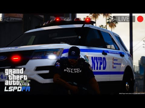 GTA 5 LSPDFR LIVE - Day 56 | NYPD ESU K-9 Mason // New York Police Department