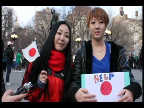 """Pray for Japan"" Messages from the world (Union sq,New York and Japan 2011)"