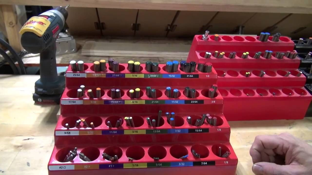 Fastcap Kiss Drills Color Coded Drill Bit Storage System