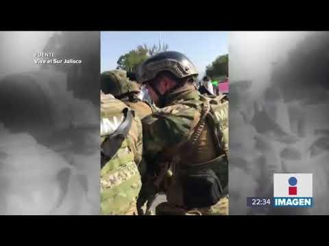 Así corrieron en Ciudad Guzmán a elementos de la Marina | Noticias con Ciro Gómez Leyva