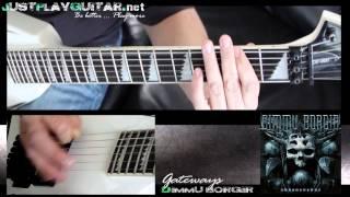 [ DIMMU BORGIR - The gateways ] How to play part 1/2 [ guitar cover ]