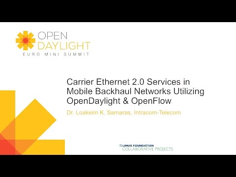 Carrier Ethernet 2.0 Services in Mobile Backhaul Networks Utilizing OpenDaylight & OpenFlow