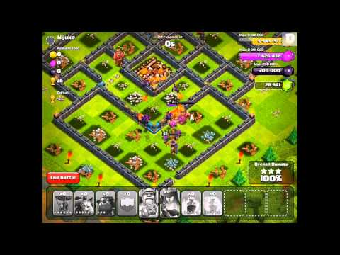 Clash of Clans - More Lava Hound Gameplay!