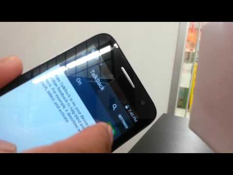 How to turn off Talkback on Alcatel onetouch Elevate Boost Mobile