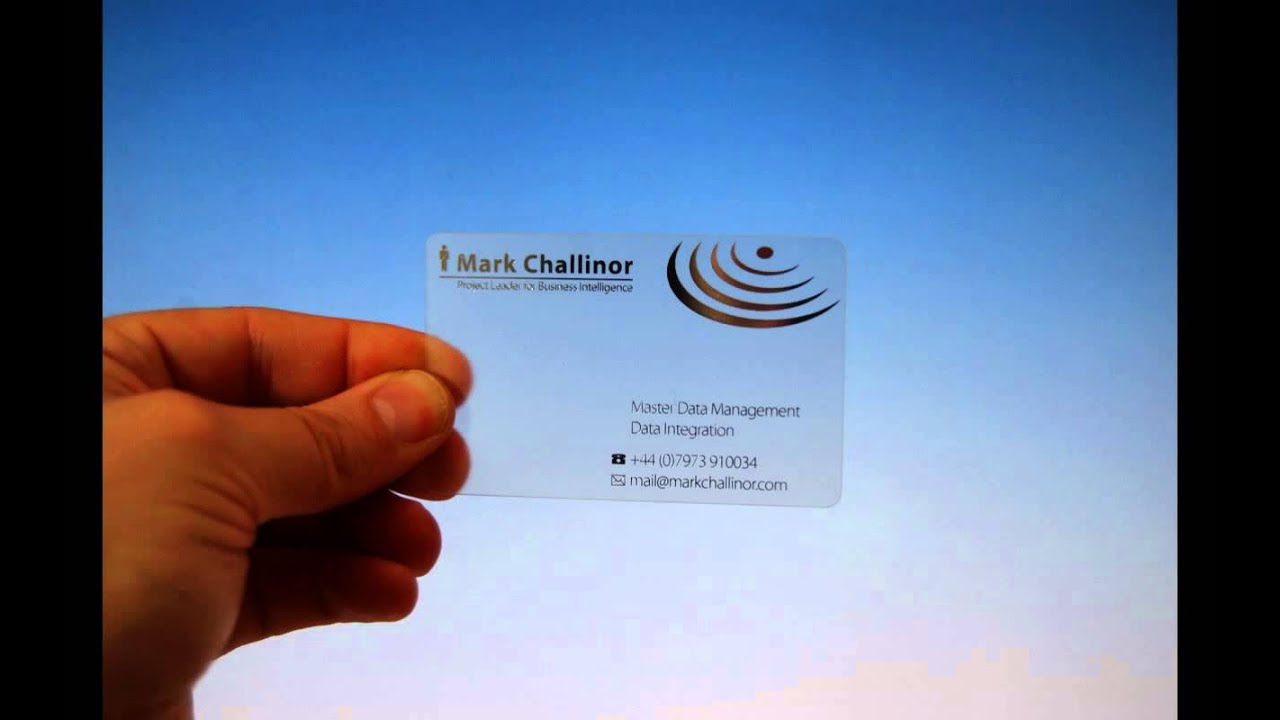 Clear business cards youtube clear business cards colourmoves
