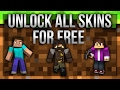 HOW TO UNLOCK ALL SKINS! (Minecraft Pocket Edition) | 2017