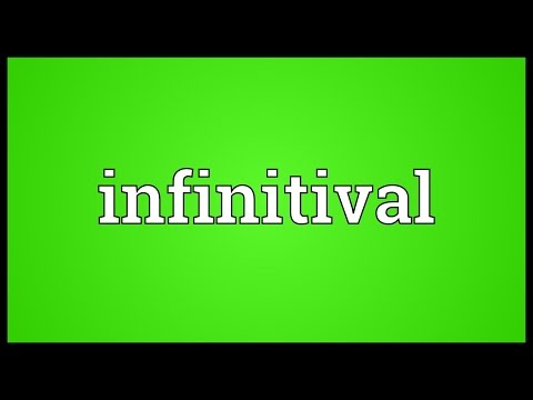 Header of infinitival
