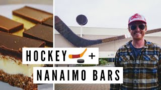 Trying NANAIMO BARS (Canadian Dessert ??) + The BIGGEST HOCKEY STICK in the World! ?