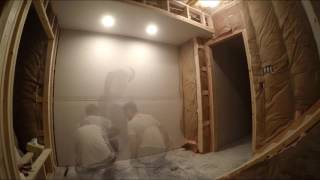 Hanging Drywall: Time Lapse