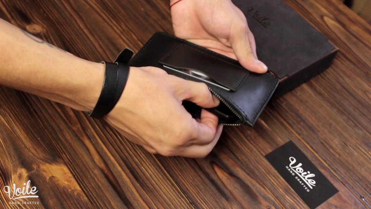 0e9db54ee043 Кошелек-чехол для телефона из кожи ручной работы VOILE vl-lw3-kblk, цена  399 грн., купить Сватово — Prom.ua (ID#576995856)