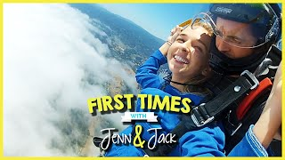 SKYDIVING! W/ JENNXPENN AND THATSOJACK | FIRST TIMES EP. 8