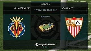 Calentamiento Villarreal CF vs Sevilla Fc