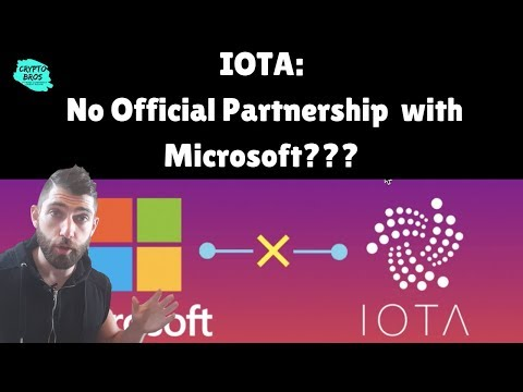 "[Shocking] IOTA No ""Official"" Partnership With Microsoft"