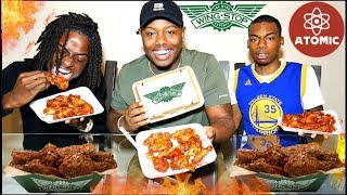 EXTREMELY HOT 🔥🔥 ATOMIC HOT WINGS | WING STOP CHALLENGE
