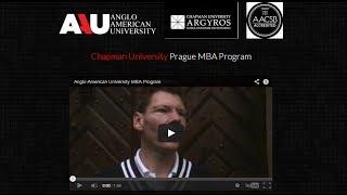 Anglo-American University MBA Program