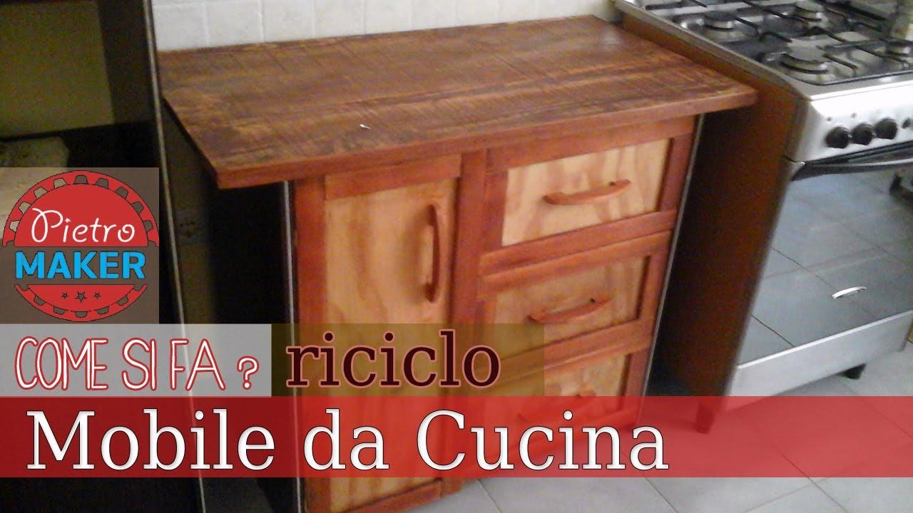 Mobili Con Legno Riciclato : Cucina in legno riciclato porta bottiglie in legno