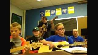 Mikayla frost, Hayden Boyd, jake weigel, Emily weigel, class guitar project 2014