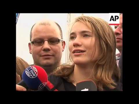 14-year-old Dutch sailor girl heads out to sea