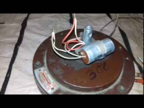 ceiling fan capacitor connection - YouTube
