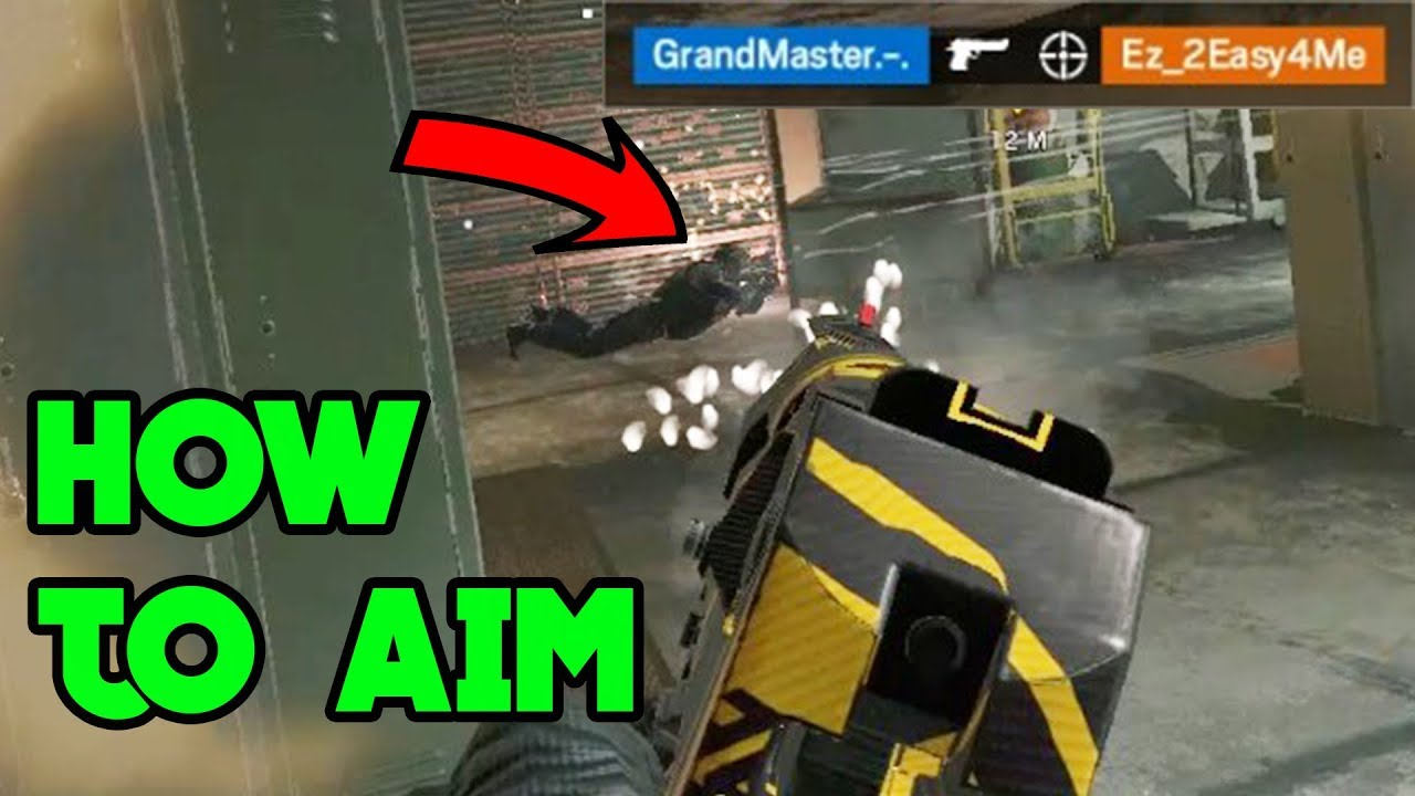 How To Aim Like A Pro - Rainbow Six Siege Gameplay thumbnail