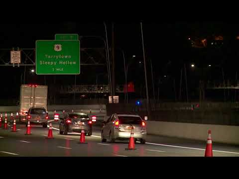 Westchester-bound lanes on the second span of the new TZB opened around 10 p.m. Tuesday.