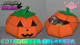 ♥ Tutorial Halloween: Cofre / cesta de Calabaza de Goma Eva (Foamy) ♥
